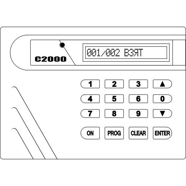 Alarm system C2000 vector drawing
