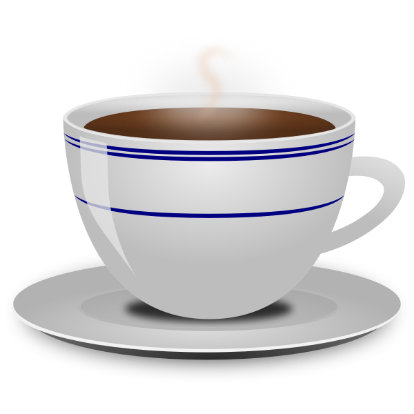 Vector image of cup of coffee