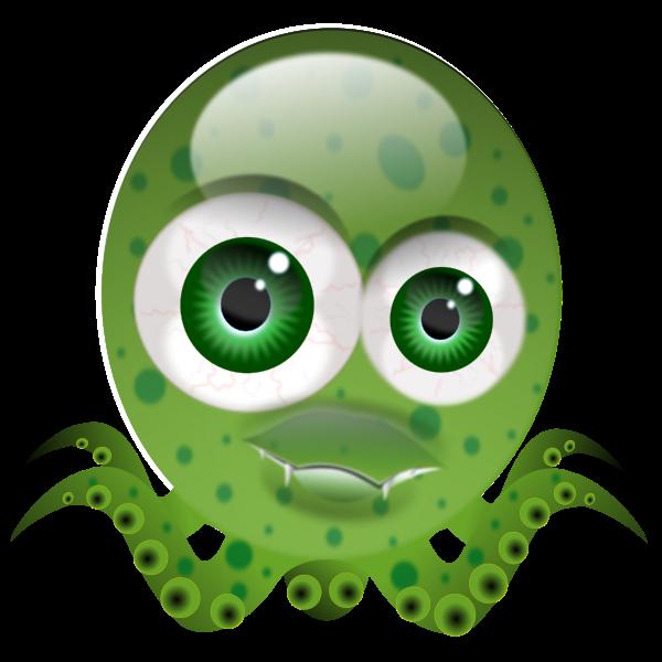 Funny octopus vector illustration