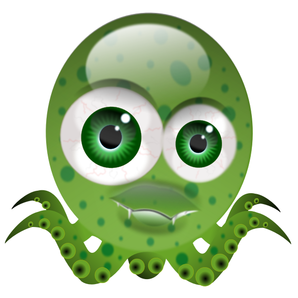 Funny octopus vector illustration