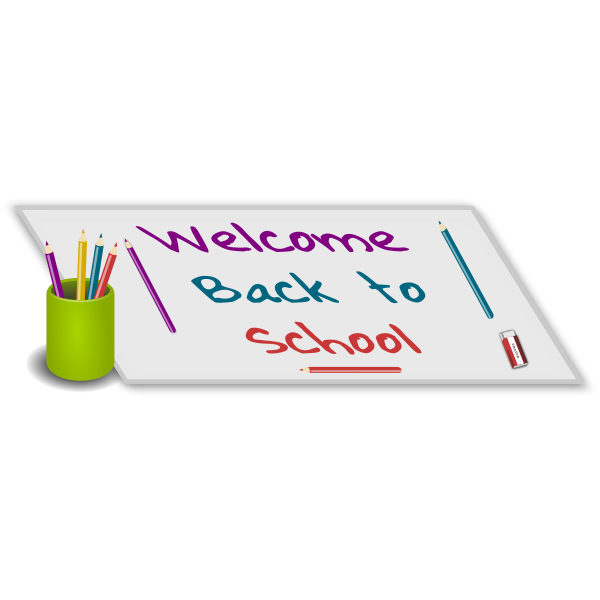 Welcome back to school vector illustration | Free SVG