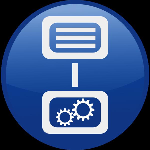Machine control vector icon
