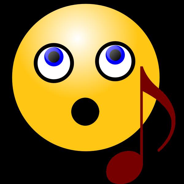 Singing smiley