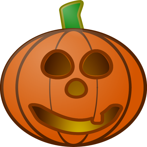 Red pumpkin lantern vector illustration