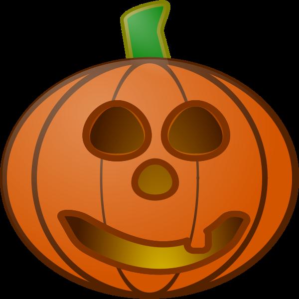 Red pumpkin lantern vector illustration