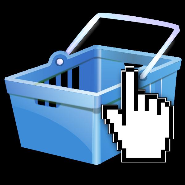 eShop blue icon vector image