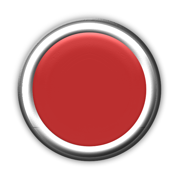 Red Button with Internal Light Turned Off