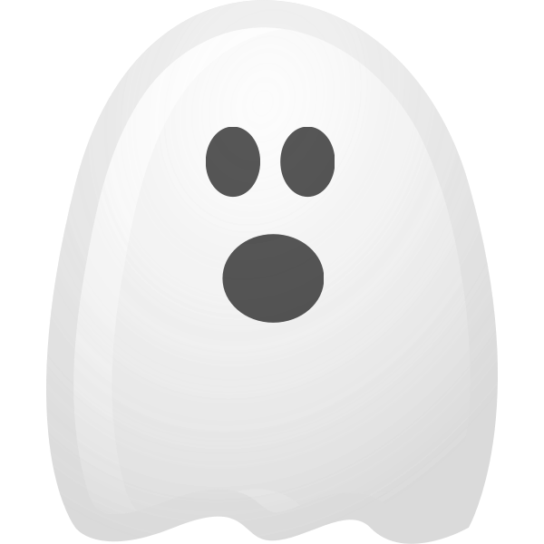 Vector illustration of cartoon ghost