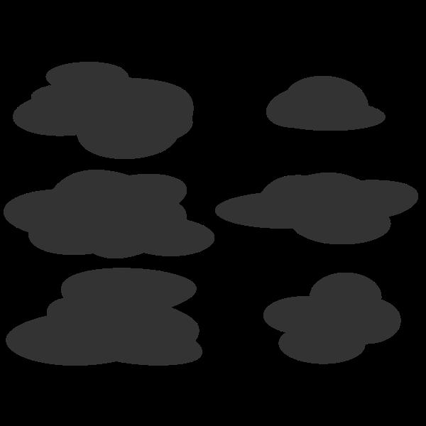 Grey clouds set vector image