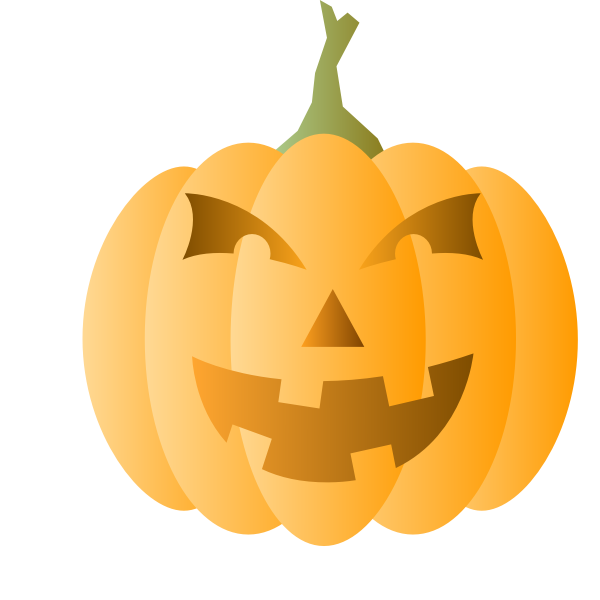 Orange pumpkin lantern vector illustration