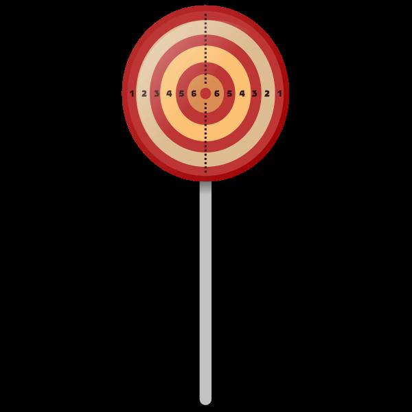 Target on a pole