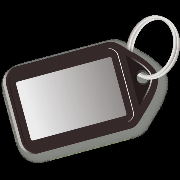 Vector image of brown key tag