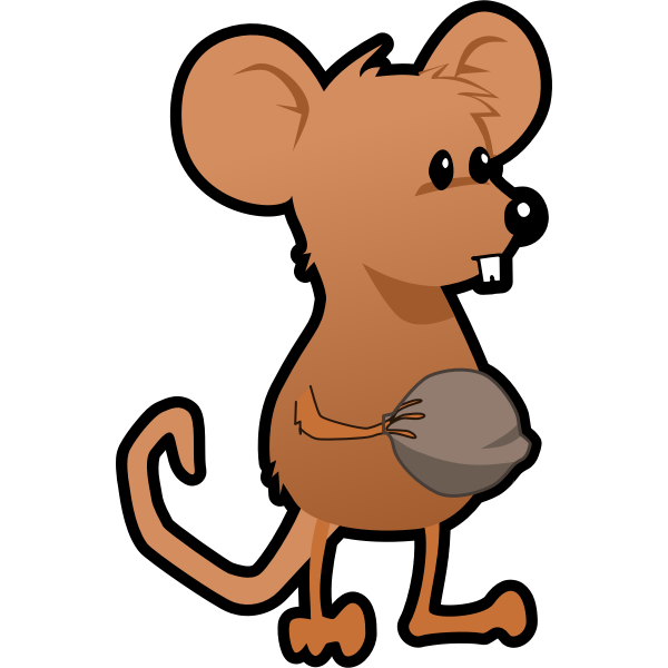 Vector graphics of brown cartoon mouse