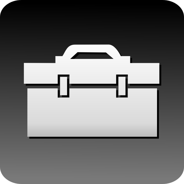 Vector image of computer briefcase icon