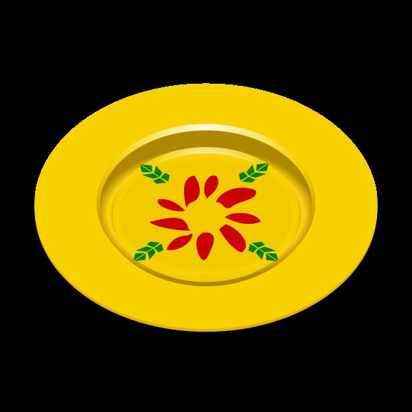 Yellow dish vector image