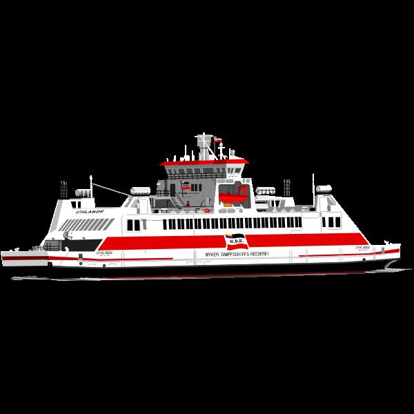 Passenger cruise ship vector image
