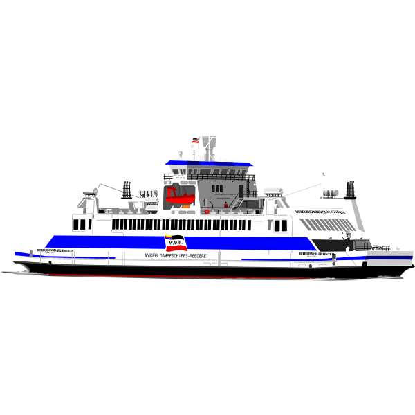 Passenger cruise ship vector drawing
