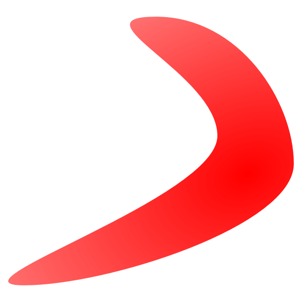 Vector drawing of boomerang