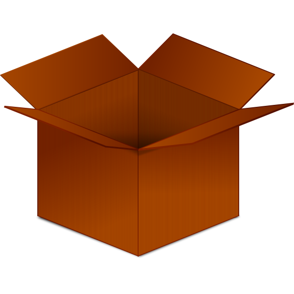 Open red cardboard box vector image