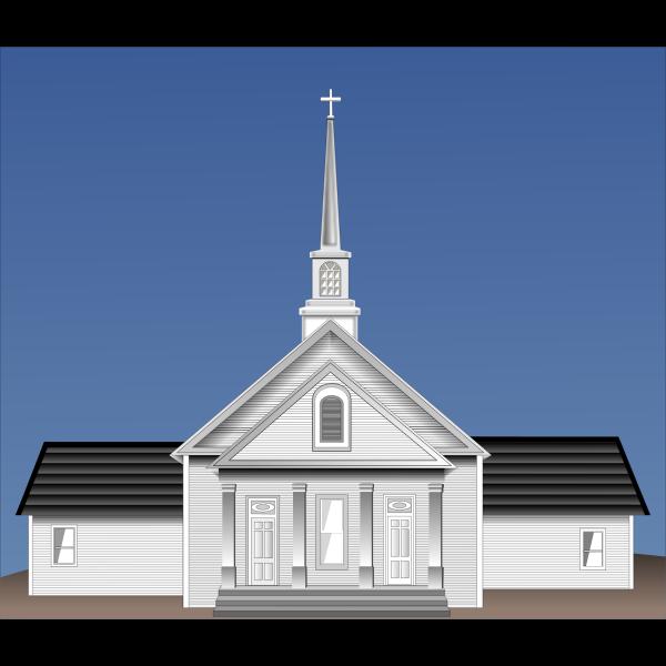 Church vector clip art image