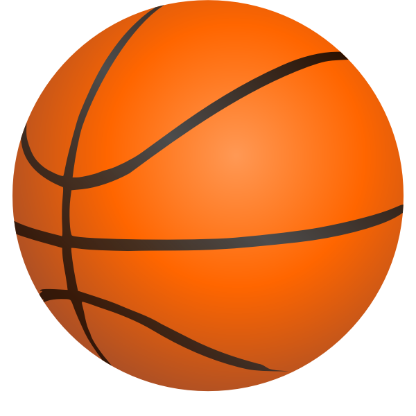 Photorealistic basketball ball vector clip art