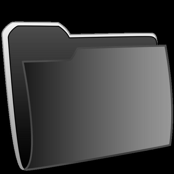 Vector image of black folder icon