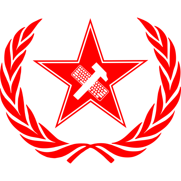 Vector image of political slogan ''Workers of the world, unite.''