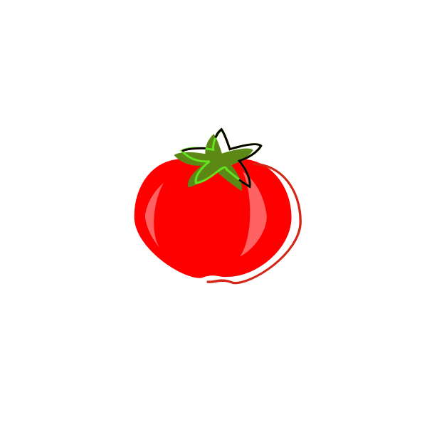 Vintage tomato vector graphics