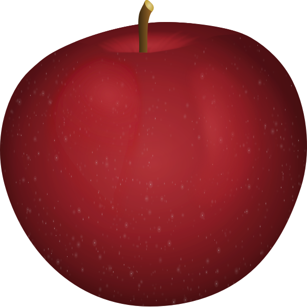 Vector image of white spots on an apple