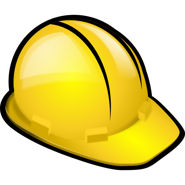 Safety helmet vector clip art