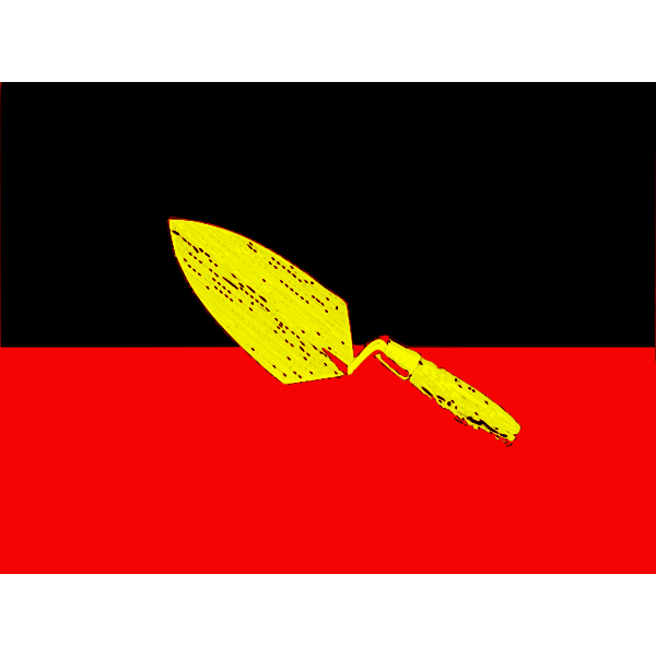 Aboriginal flag vector image