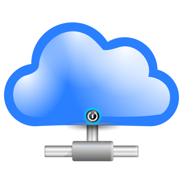 Secure cloud computing icon vector image