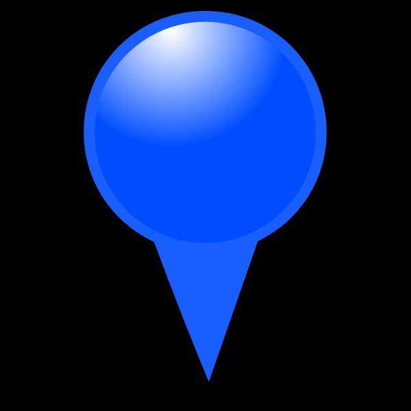 Blue map pointer