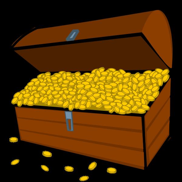 Overflowing treasure chest