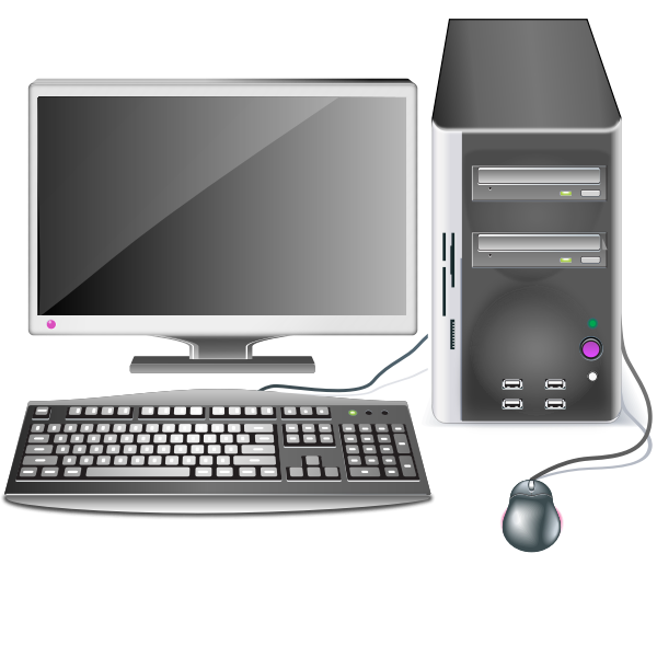 Computer station vector graphics