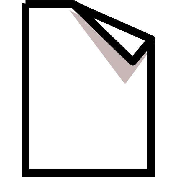 Vector image of new page symbol