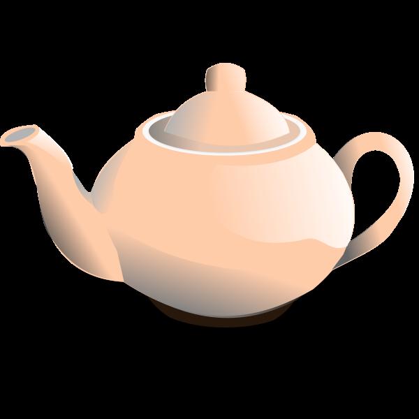 Vector graphics of shiny pink tea pot
