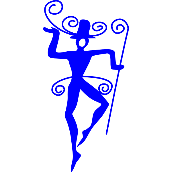 Vane dancer silhouette vector image