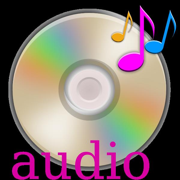 Audio CD vector graphics