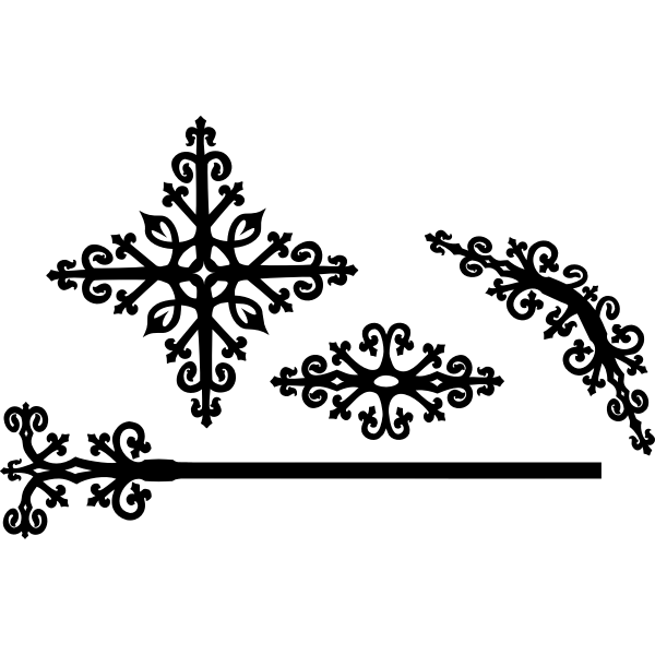 Ornate 4 piece decoration vector image