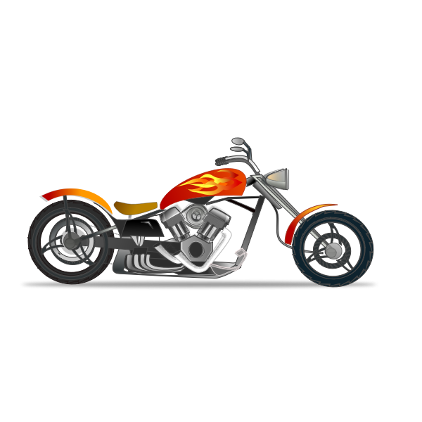 Chopper color clip art
