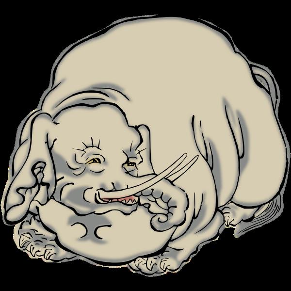 Elephant clip art vector