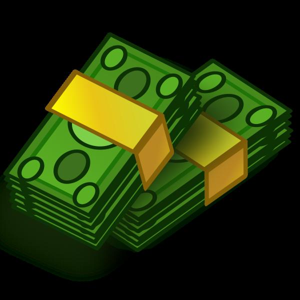 Money wads vector clip art