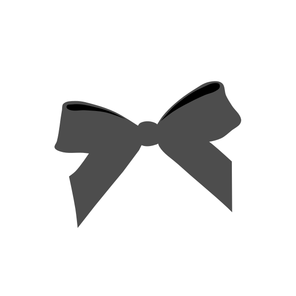 Black bow tie vector drawing