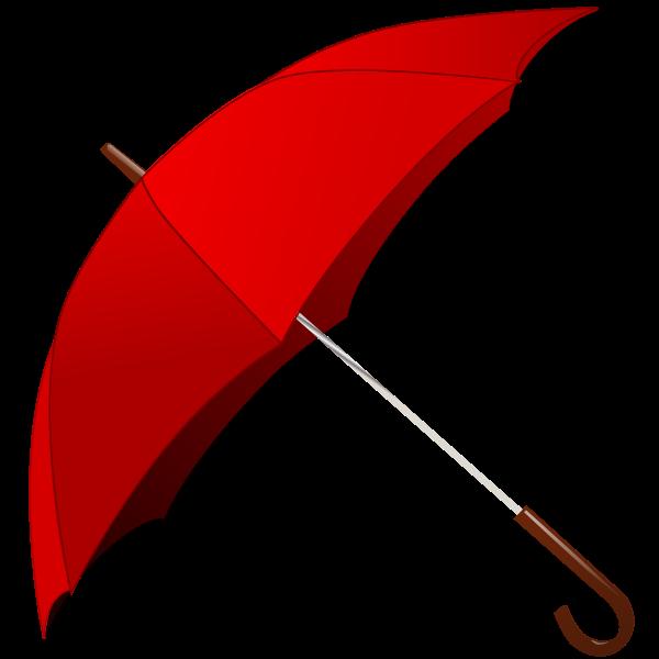 Open red umbrella vector image