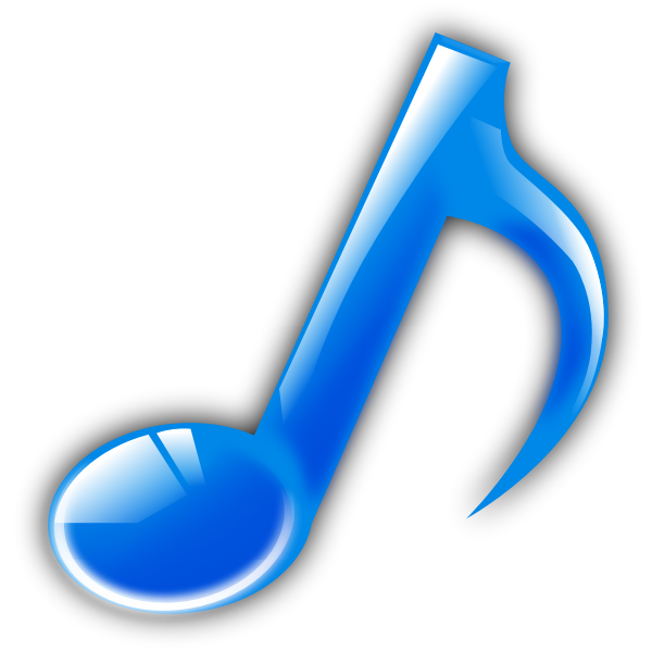 Music note with reflections vector image