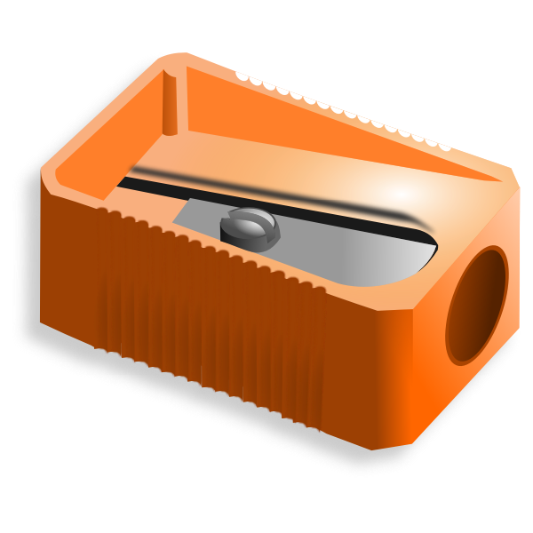 Vector clip art of pencil sharpener