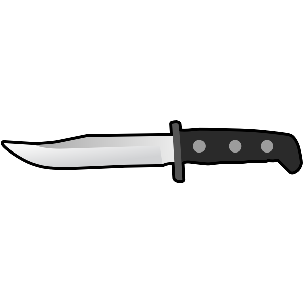 Simple Flat Knife Side View