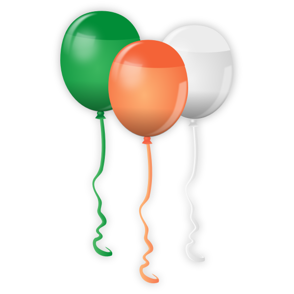 Vector image of balloons for St. Patrick Day celebration