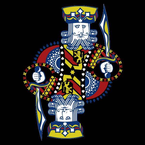 King of Spades gaming card vector image